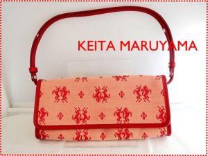 【KEITA MARUYAMA/ケイタマルヤマ】 美品 総柄 ショルダーバッグ ポーチ 赤 E