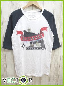 【BACK BONE/バックボーン】 Tシャツ ラグラン M プリント 5分袖 T11403