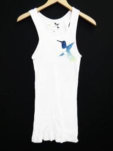 【FREE CITY/フリーシティ】 Ron Herman LIFE NATURE LOVE プリントリブ タンクトップ USA製 白 ホワイト 2 T29791の買取実績
