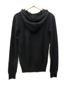 ドレスキャンプ DRESSCAMP 美品 ニット ウール フードプルオーバー パーカー カットソー 44 箔プリント 黒 ブラック M31926の買取実績