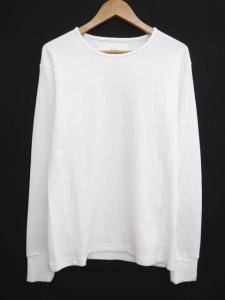 エーケーエム AKM サーマル クルーネック Tシャツ カットソー 長袖 ロンT 無地 シンプル L 白 ホワイト S40176