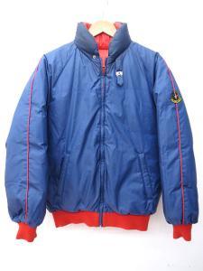 モンクレール MONCLER アシックス製 リバーシブル スキー ダウン ジャケット S 紺 ネイビー 赤 レッド T41057