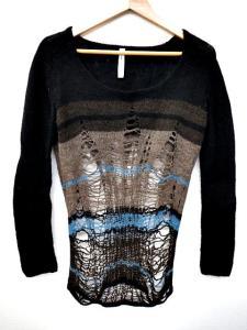 グラム glamb osker pullover knit ダメージニット セーター ウール 黒 ブラック 2 長袖 B42432