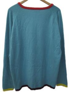 ボヘミアンズ BOHEMIANS セーター ニット Vネック カブトムシ ハート 刺繍 ラグラン 袖裾 配色 長袖 M 水色 Y50226の買取実績