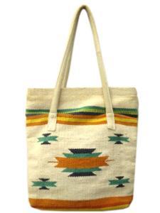 ビームス BEAMS トートバッグ ラグ ネイティブ柄 刺繍 布 鞄 ベージュ Y52416