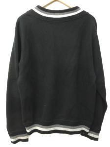 アベイシングエイプ A BATHING APE classics Vネック ニット セーター 長袖 ワッペン ラインデザイン コットン リブ M 黒 ブラック Y52443の買取実績