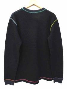 アベイシングエイプ A BATHING APE classics サーマル カットソー Tシャツ 長袖 カラーステッチ サル顔刺繍 クルーネック L 黒 ブラック S52294の買取実績