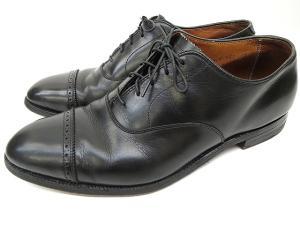 オールデン ALDEN 901 ストレートチップ パンチドキャップトゥ ビジネス ドレス シューズ ブラックカーフ 9 27cm 黒 T52811