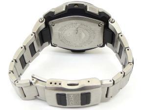 カシオジーショック CASIO G-SHOCK ジャンク品 腕時計 MTG-1200 ソーラー電波 アナログ クロノグラフ シルバー×黒 ブラック T60040 メンズの買取実績
