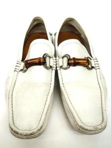 グッチ GUCCI バンブービット ドライビングシューズ ローファー 44356 白 ホワイト 靴 シューズ 7 25.0-25.5cm B57226 メンズの買取実績