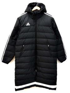 アディダス adidas ダウンジャケット ACE TIRO15 ダウンコート ベンチコート AA6885 黒 ブラック 長袖 ロング アウター サイズO ライン B59659 メンズ