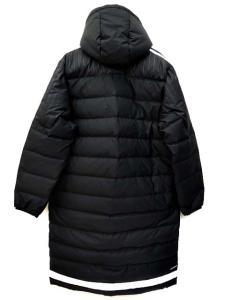 アディダス adidas ダウンジャケット ACE TIRO15 ダウンコート ベンチコート AA6885 黒 ブラック 長袖 ロング アウター サイズO ライン B59659 メンズの買取実績