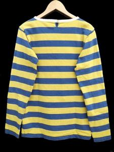 ビズビム VISVIM 14AW BORDER CREW L/S ボーダーシャツ Tシャツ 長袖 パイピング コットン L 黄 イエロー 紺 ネイビー C59733 メンズの買取実績