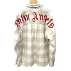 パームエンジェルス PALM ANGELS 20SS LOGO OVER SHIRT ロゴオーバー チェック ネルシャツ ベージュの買取実績