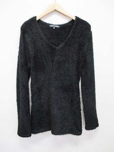 5351プールオム 5351 POUR LES HOMMES ニット セーター 長袖 2 黒 ブラック シャギー A8626