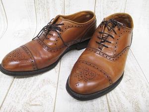 オールデン ALDEN ビジネスシューズ 革靴 茶 7 1/2 25.5cm ブラウン 紳士靴 ストレートチップ A9666 レザー
