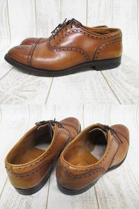 オールデン ALDEN ビジネスシューズ 革靴 茶 7 1/2 25.5cm ブラウン 紳士靴 ストレートチップ A9666 レザーの買取実績
