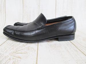 バーニーズニューヨーク BARNEYS NEW YORK スリッポン ローファー 黒 5 1/2 23.5cm レザー ブラック 小さいサイズ 紳士靴 シューズ A9710 イタリア製の買取実績