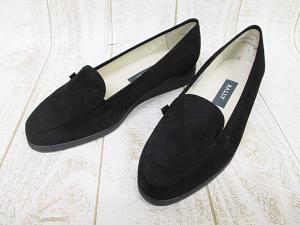 未使用品 バリー BALLY スリッポン スエード 黒 ブラック 4 E 22.5cm イギリス製 婦人靴 美品 D0149