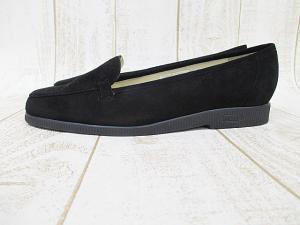 未使用品 バリー BALLY スリッポン スエード 黒 ブラック 4 E 22.5cm イギリス製 婦人靴 美品 D0149の買取実績