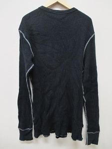 アルファ ALPHA Tシャツ カットソー ヘンリーネック 大きいサイズ ブラック 黒 XL 長袖 春秋 B9045 メンズの買取実績