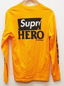 シュプリーム SUPREME Tシャツ 長袖 ANTI HEROコラボ M 黄 イエロー メンズの買取実績