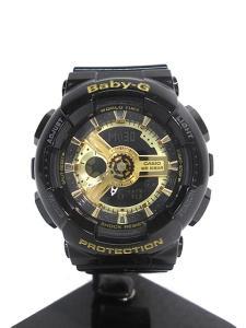 ベビージー Baby-G BA-110-1A アナデジ 腕時計 ブラック×ゴールド レディース