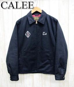 【CALEE/キャリー】 刺繍 スウィングトップ ジャケット 黒/ブラック Lの買取実績