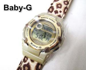 未使用品 ベビージー Baby-G CASIO BG-3000V-5DR Reefリーフモデル レオパード 腕時計ベビーG海外モデル