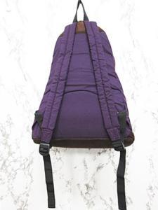 ビームスボーイ BEAMS BOY リュックサック デイパック 紫 ジップアップ ナイロン コットン ミドルサイズの買取実績