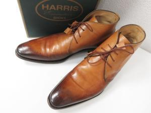 バーニーズニューヨーク BARNEYS NEW YORK × ハリス HARRIS 別注 チャッカ ブーツ 加工 レザー ブラウン イタリア製 9の買取実績