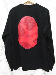 アベイシングエイプ A BATHING APE Tシャツ カットソー 長袖 ロンT ロゴ プリント L 黒 ブラックの買取実績