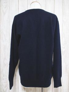 BALLANTYNE/バランタイン 長袖 Vネック 柄 カシミヤ 100% ニット セーター 44 紺 ネイビー スコットランド製 英国の買取実績