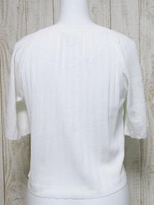 アナイ ANAYI 五分袖 ショート丈 カーディガン ギャザー 38 白系 ホワイト 綿 コットン 日本製 ボタン ドルマン レディースの買取実績