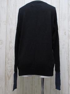 アディダスオリジナルス adidas originals カーディガン 長袖 Vネック 袖ボーダー リブ長 2P L ブラック 黒 コットン 綿 レディースの買取実績