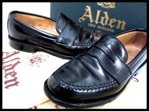 【ALDEN/オールデン】 コードバン ペニー ローファー レザーシューズ 5 1/2D 黒 99362