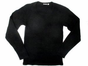 アヴィレックス AVIREX カットソー Tシャツ ロンT 長袖 Uネック 無地 S 黒 ※CPの買取実績