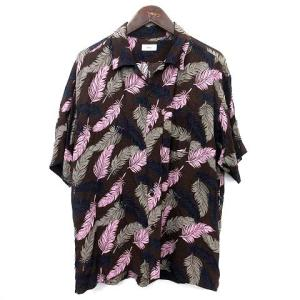 アレッジ ALLEGE アロハシャツ オープンカラー ピンク ネイビーの買取実績