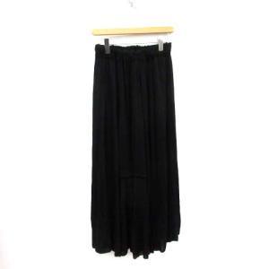 エイトン ATON 19SS フレアロングスカート 2 ブラックの買取実績