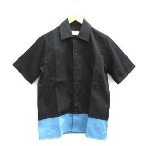 アミ アレクサンドル マテュッシ ami alexandre mattiussi バイカラーシャツ ブラック ブルーの買取実績