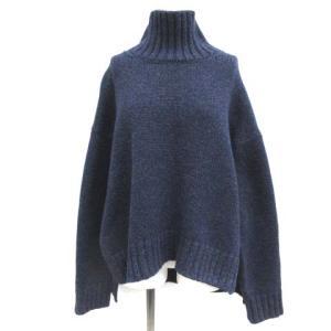 エイトン ATON ハイネックニットセーター 02 ブルーの買取実績