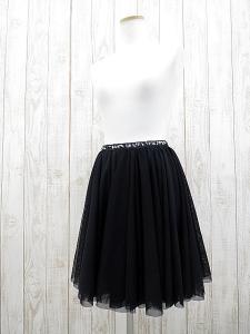 【muller of yoshiokubo/ミュラー オブ ヨシオクボ】 スパンコール付き チュール ミニスカート 黒×ネイビー/E1021