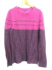 アンドゥムルメステール ANN DEMEULEMEESTER ニット セーター バイカラー モヘヤ混 長袖 紫 Mの買取実績