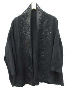 アンテプリマ ANTEPRIMA カーディガン 羽織 七分袖 スパンコール 40 黒