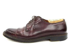 オールデン ALDEN ビジネスシューズ レザー 革靴 レースアップ プレーントゥ 茶 ブラウン 9