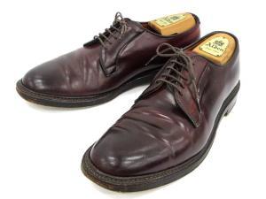 オールデン ALDEN ビジネスシューズ レザー 革靴 レースアップ プレーントゥ 茶 ブラウン 9の買取実績