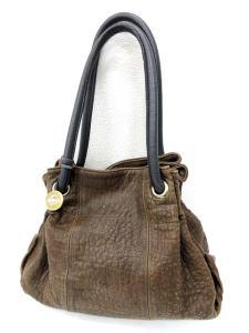 フルラ FURLA トートバッグ 型押し 巾着 茶系 /【フクウロ】の買取実績