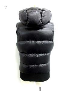 ドレスキャンプ DRESSCAMP ダウンベスト フード付き ジップアップ ロゴ ポケット付き 46 黒 ブラック/☆B383の買取実績
