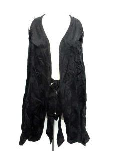 ドリスヴァンノッテン DRIES VAN NOTEN カーディガン 羽織 花柄 リボン 肩あき 黒 ブラック 36