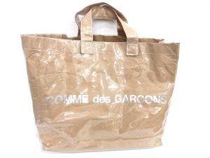 コムデギャルソン COMME des GARCONS トートバッグ エナメル ロゴ ベージュ /☆G4★★の買取実績